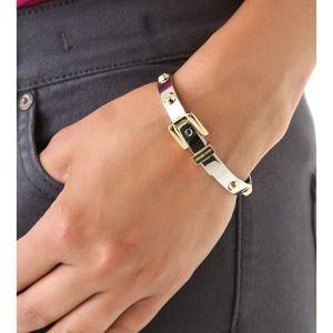 Michael Kors Astor Two Tone Buckle Bangle Bracelet